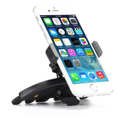 Premium Car Mount CD Player Slot Phone Holder Cradle Stand Swivel Dock Strong Grip D7B Compatible With Motorola One, Moto Z3 Play Z Play Droid X4, G4 Plus, G7 G6 G5 PLUS (XT1687) Play E5