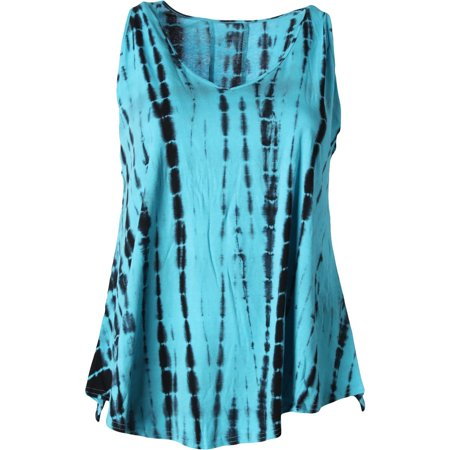The Balance Collection Womens Plus Knit Tie Dye Tank Top