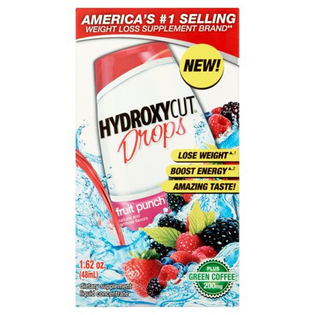 Hydroxycut Weight Loss Drink Flavoring Juice Drops Fruit Punch Tary Supplement 1 62 Oz