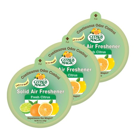 Citrus Magic Solid Air Freshener Fresh Citrus, Pack of 3, 8-Ounces - Citrus Magic Carpet