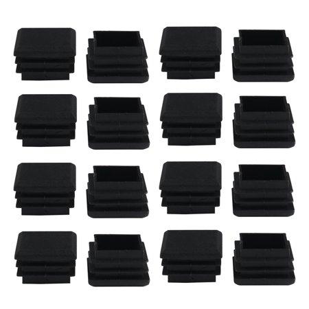 16pcs 25 x 25mm Plastic Square Tube Inserts Cover Black Shelves Leg Protector - image 7 of 7