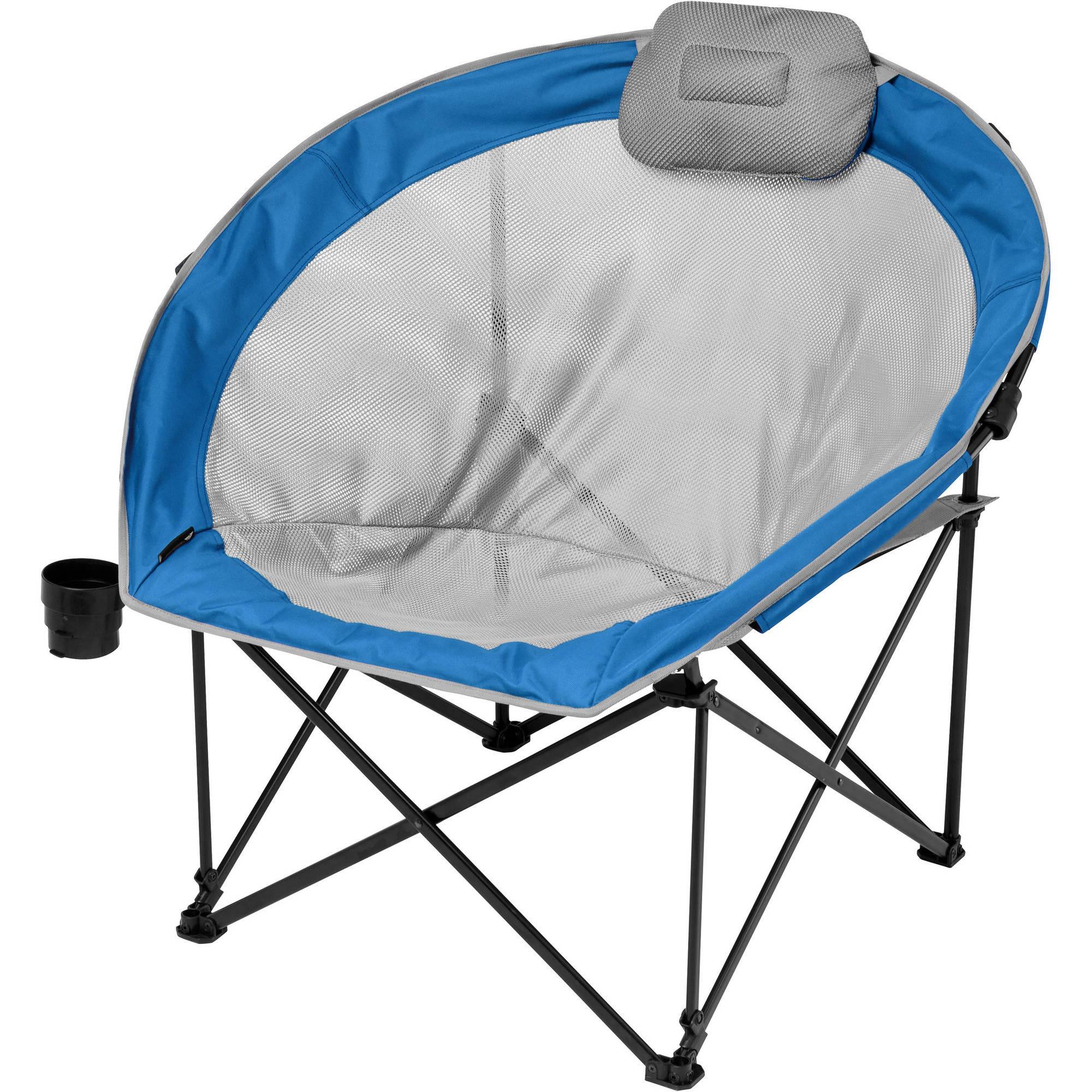 Ozark Trail Oversized Cozy Camp Chair Blue Walmart Com