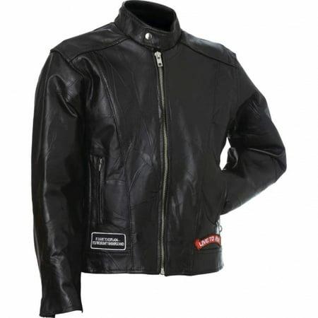 Alpha Leather Jackets - Genuine Buffalo Leather Motorcycle Jacket