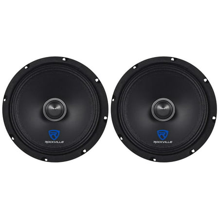 """(2) Rockville RXM88 8"""" 500w 8 Ohm Mid-Range Drivers Speakers, Made w/Kevlar Cone"""