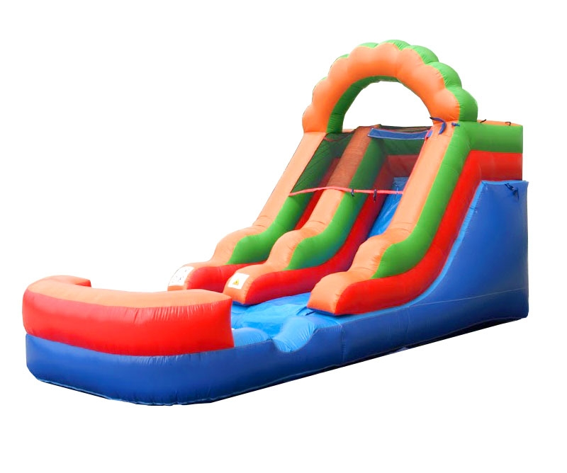 Pogo 12' Rainbow Crossover Kids Jumper Inflatable Waterslide with Blower by Pogo Bounce House