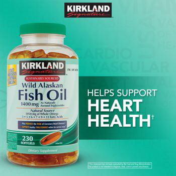 Kirkland Wild Alaskan Fish Oil 1400Mg  230 Softgels