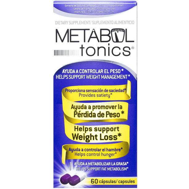 Metabol Tonics Weight Loss Dietary Supplement Ctules 60 Ct