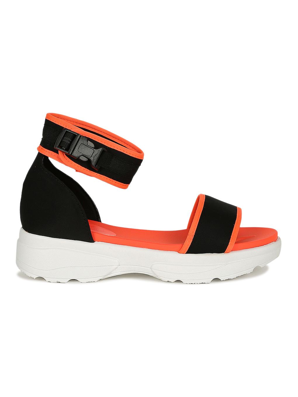 Women Neon Snap Buckle Open Toe Sneaker Sandal 19114