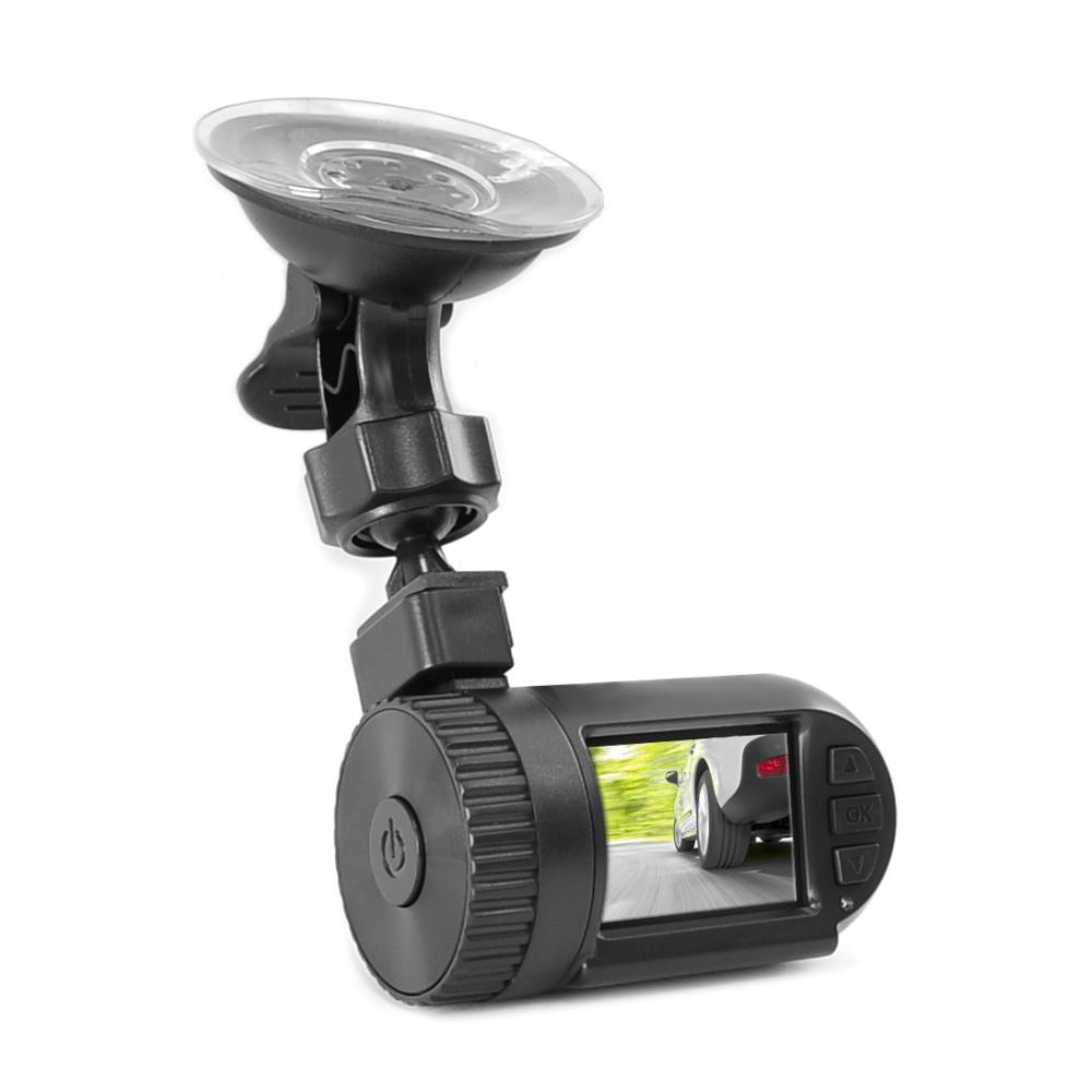 PYLE PDVRCAM11 - Car Recorder DVR Front & Rear View Dash Camera Video 1.5 Inch Monitor Windshield Mount - Full Color HD 1080p Security Camcorder for Vehicle - PiP Night Vision Audio Record Micro SD