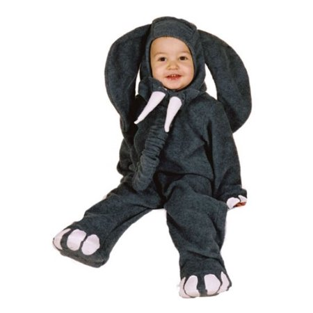 Elephant Halloween Baby Costume - Infant Size Small 6 - 12 months (6 Nong Halloween)