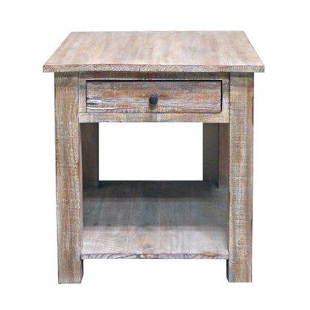 Agave End Table Real Solid Wood Rustic Western Cabin Lodge