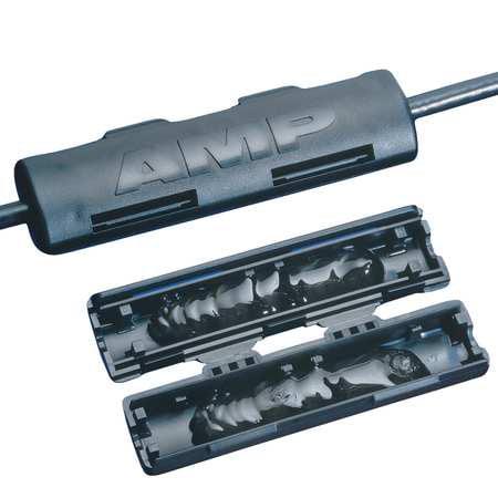 TE CONNECTIVITY CPGI-1116542-1 Phone Splice Kit,2 Pair,60V,Black