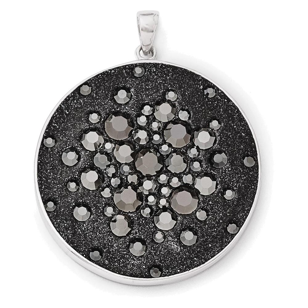 Jewelry Adviser Slides Sterling Silver Rhodium Plated Diamond Pendant Slide