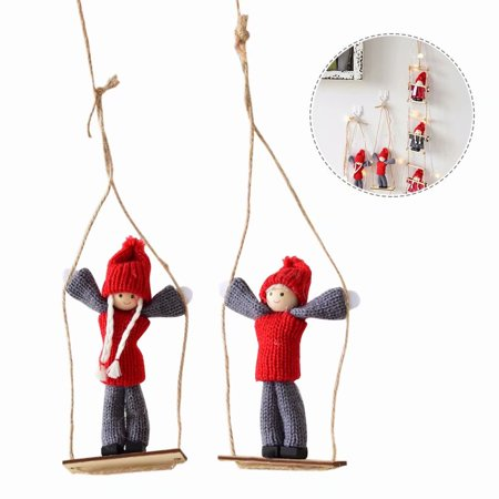 Climbing Santa Claus Toy Doll Christmas Tree Indoor/Outdoor Hanging Ornament Decoration Window Decoration for Kids Christmas Gift