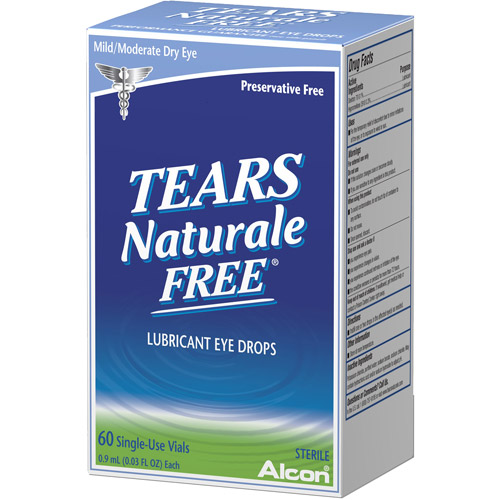Alcon Tears Naturale II Preservative Free Vials Dry Eye Lubricant Artificial Tears - 60 ct