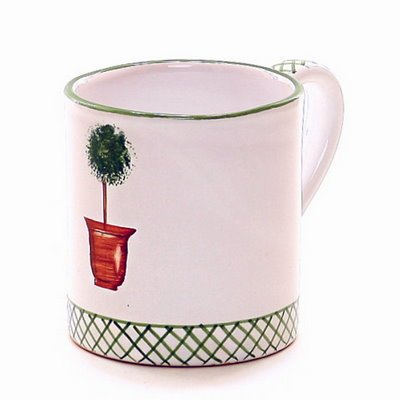 GIARDINO: Mug [#GI0009], Item Size: 4H. (10 OZ.) Inches. By GIARDINO Deruta Of Italy Collection