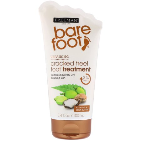 Freeman Beauty, Bare Foot, Repairing, Cracked Heel Foot Treatment, Neem Oil & Shea Butter, 3.4 fl oz (100