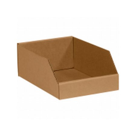 Box Packaging Corrugated Open Top Bin/Box, Kraft - 50/Case - Kraft Gable Boxes