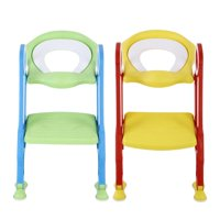 Dilwe Portable Baby Toddler Soft Toilet Chair Ladder Kids Adjustable Safety Potty Training Seat, Potty Chair, Potty Trainer