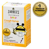 Zarbee's Naturals Baby Cough Syrup with Agave & Thyme , Natural Grape Flavor, 2 Fl. Ounces (1 Box)