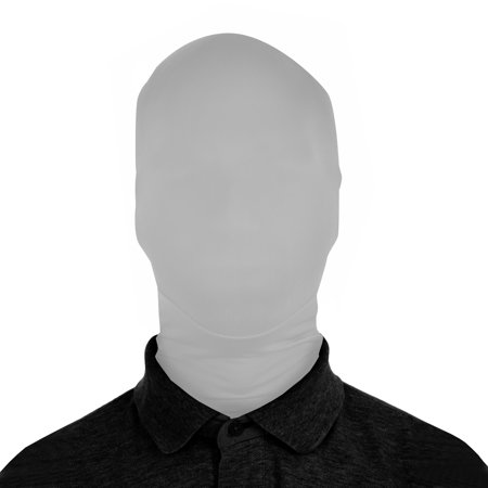 SecondSkin 2Face Solid Spandex Mask - Silver - Creepiest Masks