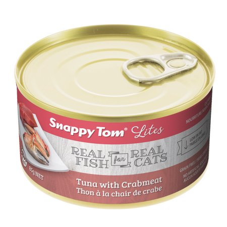 (12 Pack) Snappy Tom Lites Tuna with Crabmeat Grain Free Wet Cat Food, 3.0 Oz.
