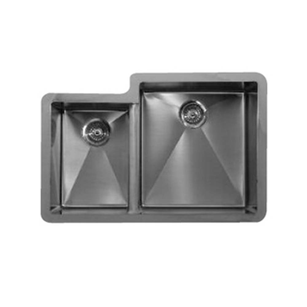 Karran Edge E560L Undermount Offset Double Bowl Sink