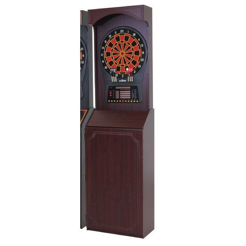 Tournament Style Free Standing Cabinet With Arachnid Cricket Pro 800 Electronic  Dartboard