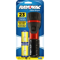 """Rayovac """"Value Bright"""" 23 Lumens Flashlight With 2D Batteries + Fast Shipping"""