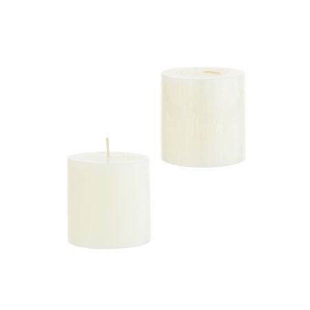3 X 3 Scented Pillar Candles (Mega Candles - Unscented 3 Inch x 3 Inch Round Hand Poured Pillar Candle - Ivory)