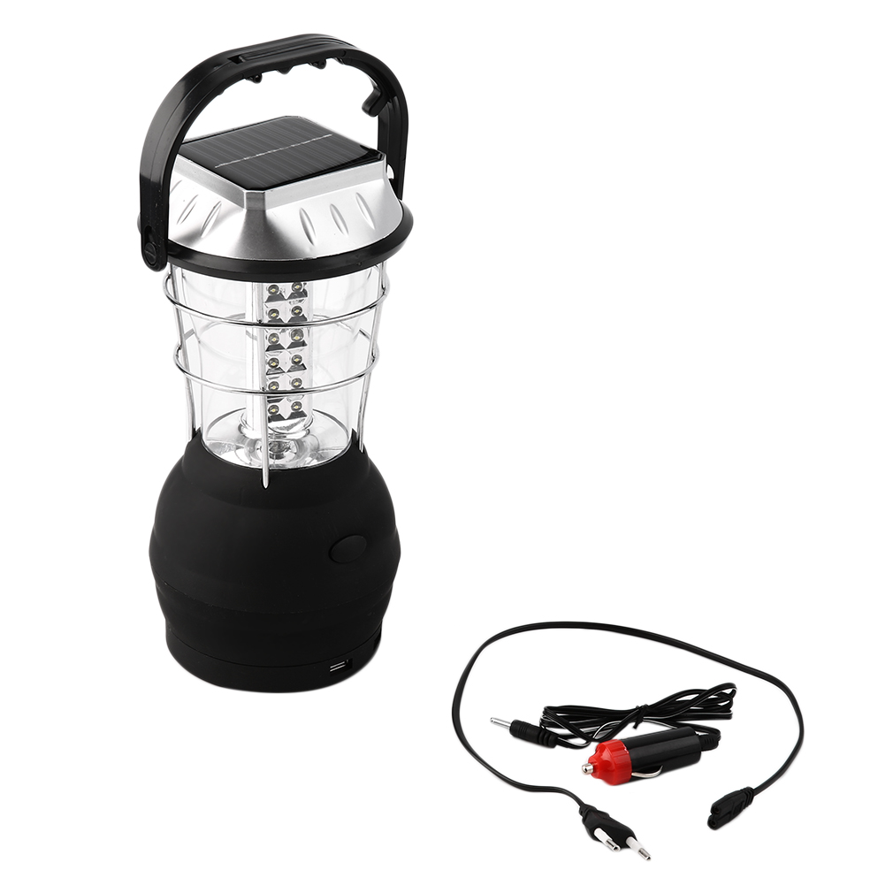 Super Bright 36-LED Solar and Crank Dynamo Powered Camping Lantern for Outdoor Camping Lamp Light