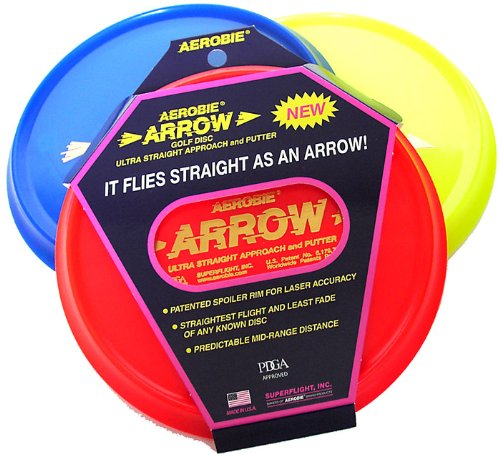 Arrow Golf Disc Single Unit (Colors May Vary), With The Straightest Flights And Least Fade... by
