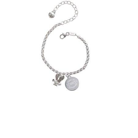 Silvertone Small Eagle - Mascot Class Of 2017 Congrats Engraved Bracelet