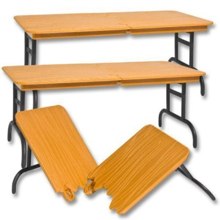 Set of 3 Brown Breakable Tables for WWE Wrestling Action Figures