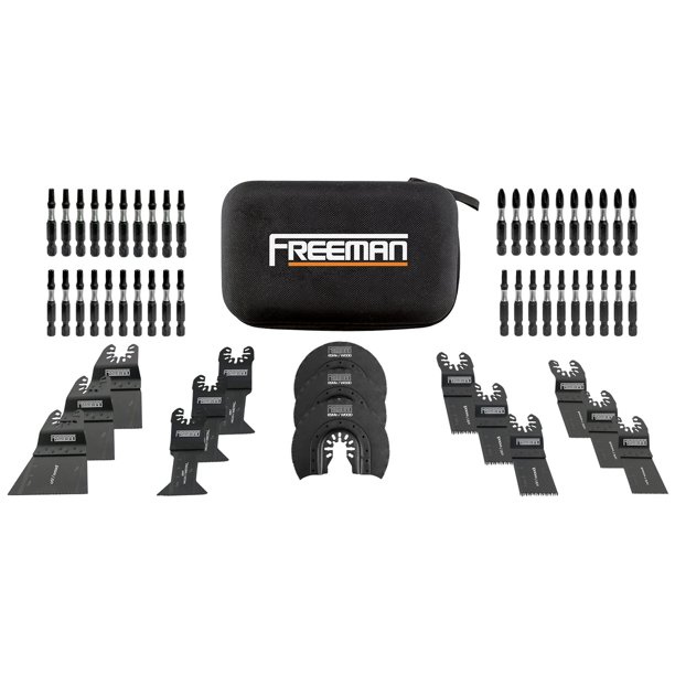 Freeman P55BBK 55-Piece Impact Driver Bits and Oscillating Blades Kit