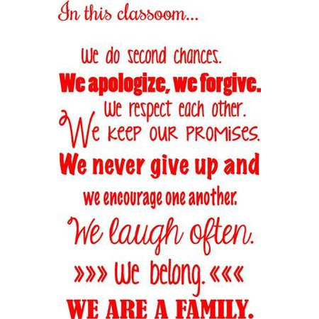 vinyl decal: in this classroom..wall quotes | vinyl wall teaching