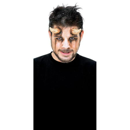 Brown Demon Horns Adult Halloween Accessory](Brown Beards For Halloween)