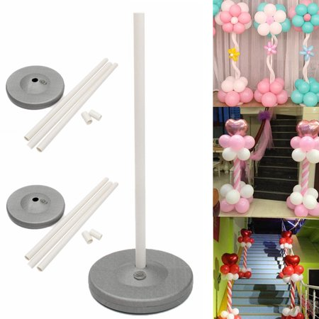 Column Ballon Base Upright Display Arch Kit Supplies 150cm/59'' Stand Door Flower Stage Holder for Wedding Birthday Festival Single Party Decors (Birthday Photo Holder)