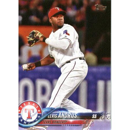 2018 Topps #323 Elvis Andrus Texas Rangers Baseball Card