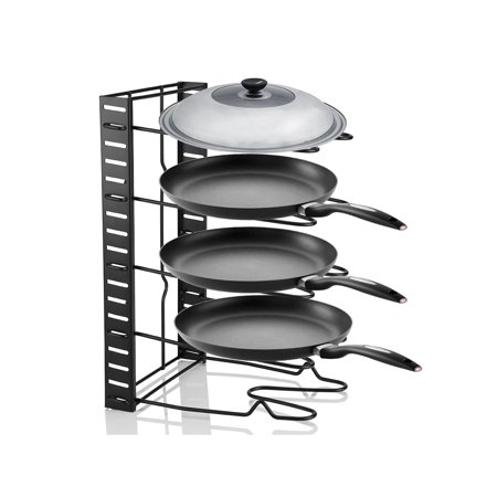 Cookware Lid Rack - HURRISE Pot Storage Rack,Multi Tiers Pot Frying Pan Lid Storage Rack Organizer Kitchen Cookware Stand Holder