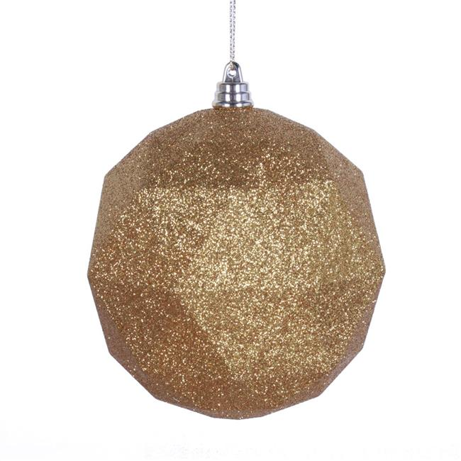 christmas ornaments to make 4 75 in anti gold glitter geometric ornament 31671