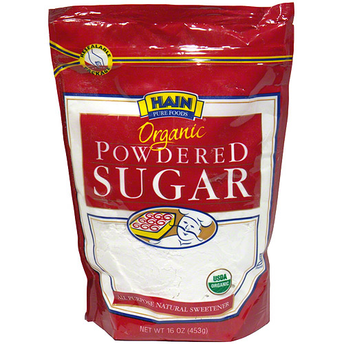 Hain Pure Foods Organic Powdered Sugar, 16 oz (Pack of 12)
