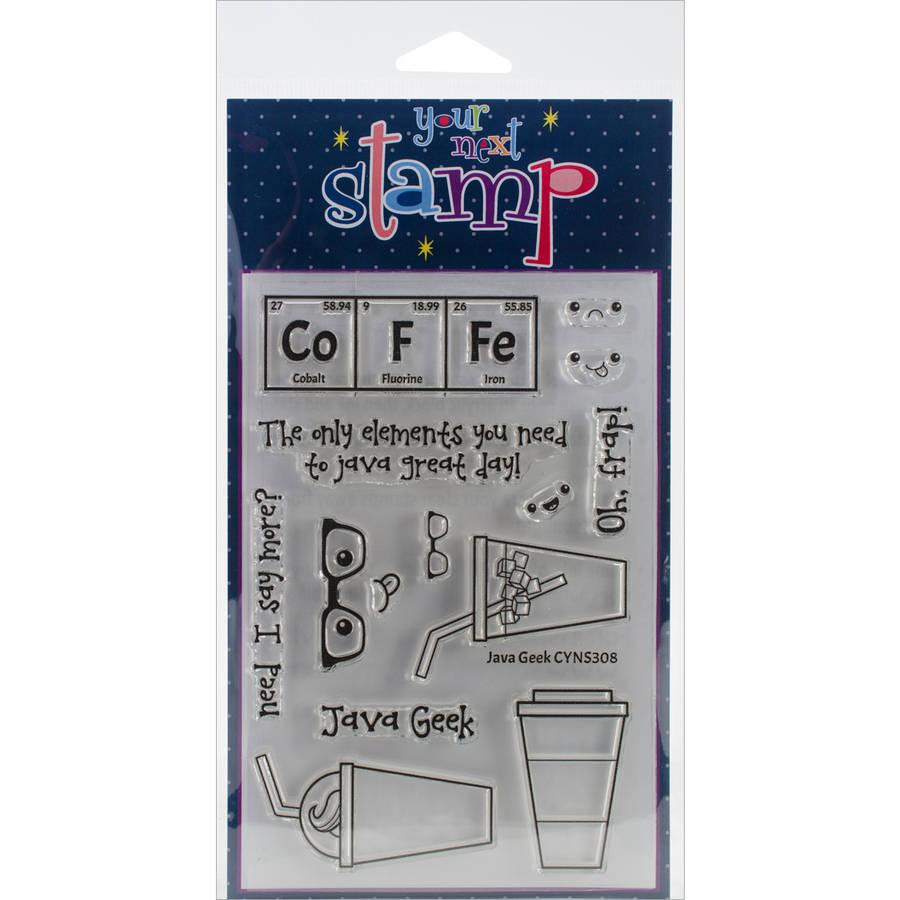 "Your Next Stamp Clear Stamps, 4"" x 6"", Java Geek"