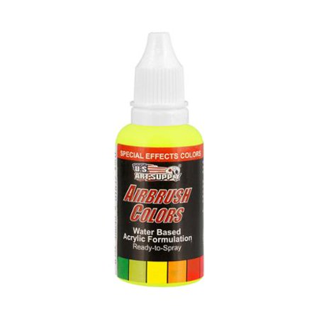 US Art Supply 1-Ounce Special Effects Neon Green Airbrush Paint