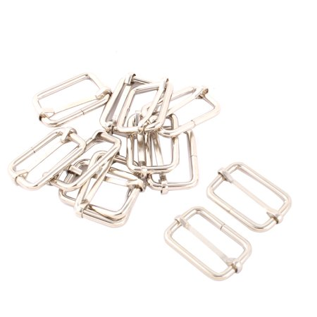 Backpack Metal Replacement Belt Connecting tri Buckle Silver Tone 12 Pcs - image 1 of 1