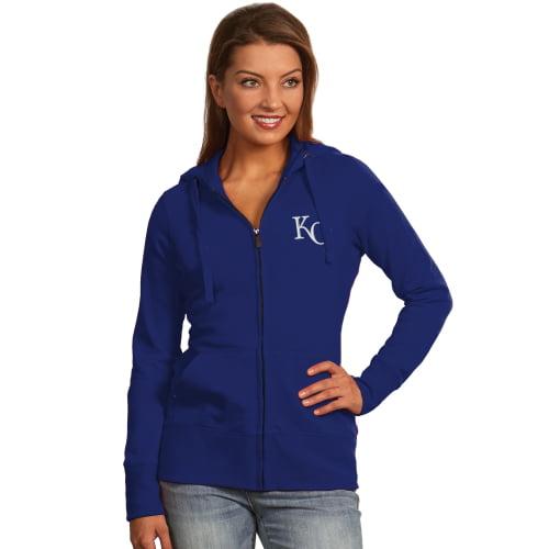 Women's Antigua Royal Kansas City Royals Full-Zip Hoodie