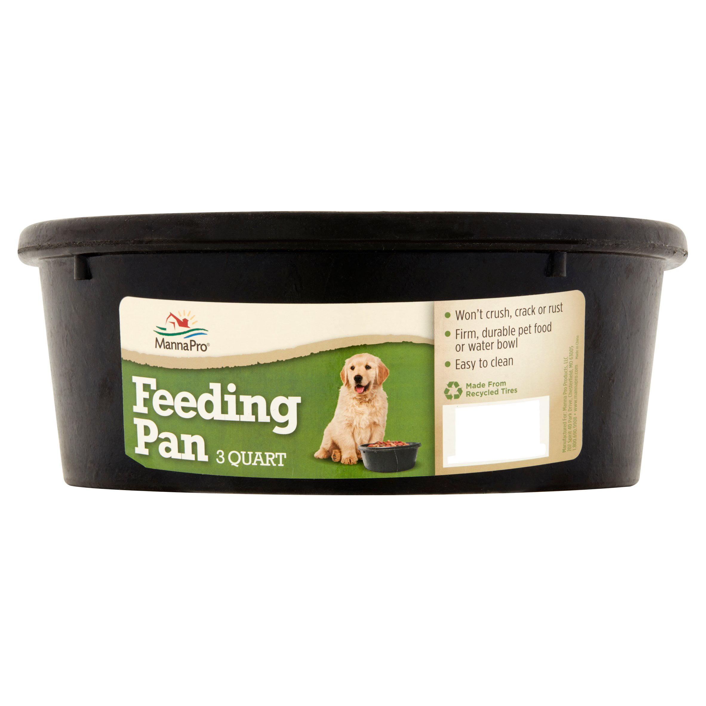 Manna Pro Feeding Pan Dog Bowl, 3 Qt