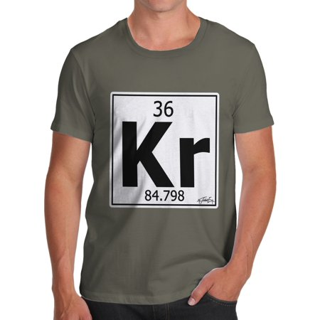 Mens T Shirt Periodic Table Element Kr Krypton Novelty T Shirt