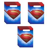 superman party loot bags - 24 guests