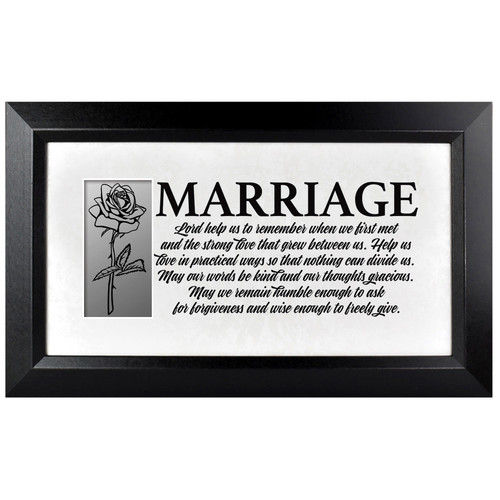 The James Lawrence Company 'Marriage' Framed Textual Art